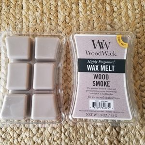 Two Packs Woodwick Wood Smoke Wax Melts